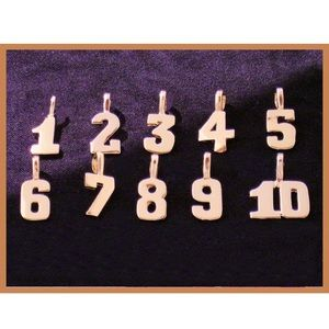 Lucky Number Gold Plated Pendant All Numbers